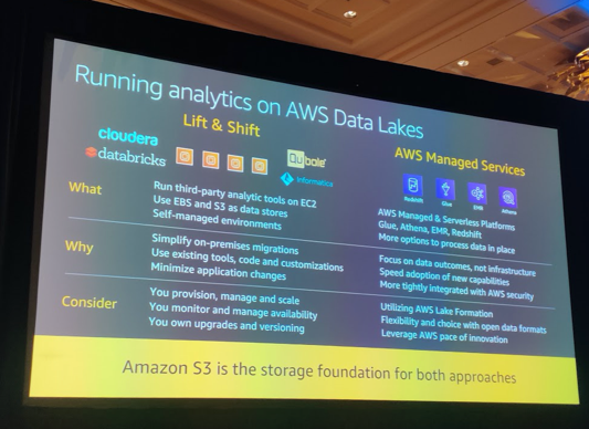 AWS-reinvent2019-Analytics-data-lakes