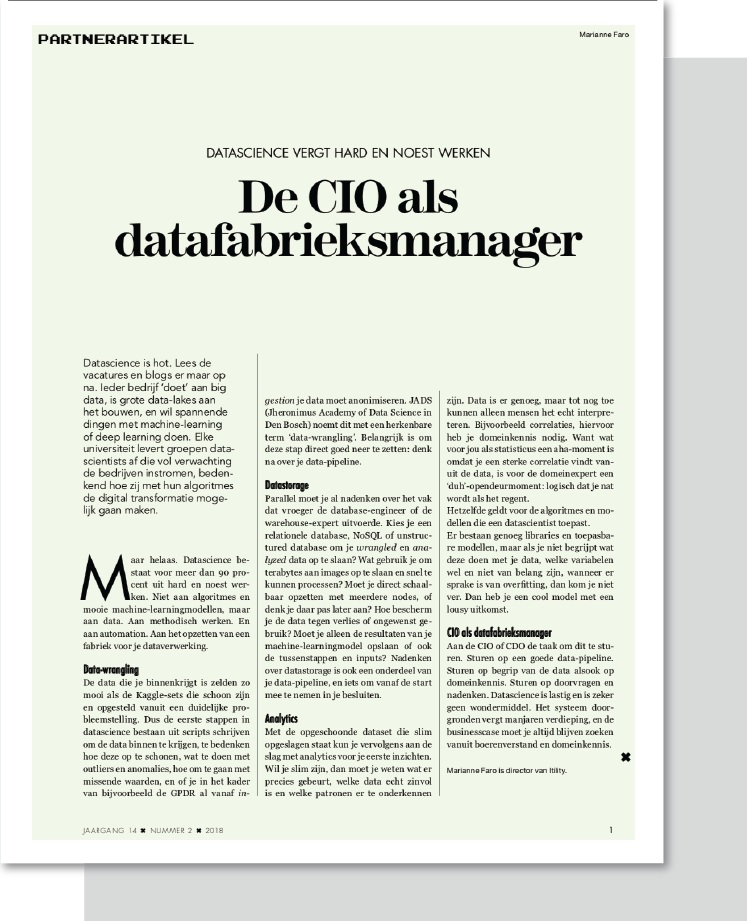 CTA artikelen_CIO datafabrieksmanager