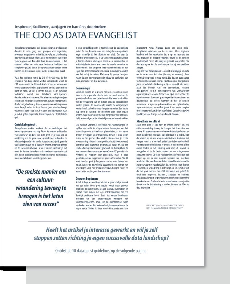 CTA artikelen_Data evangelist