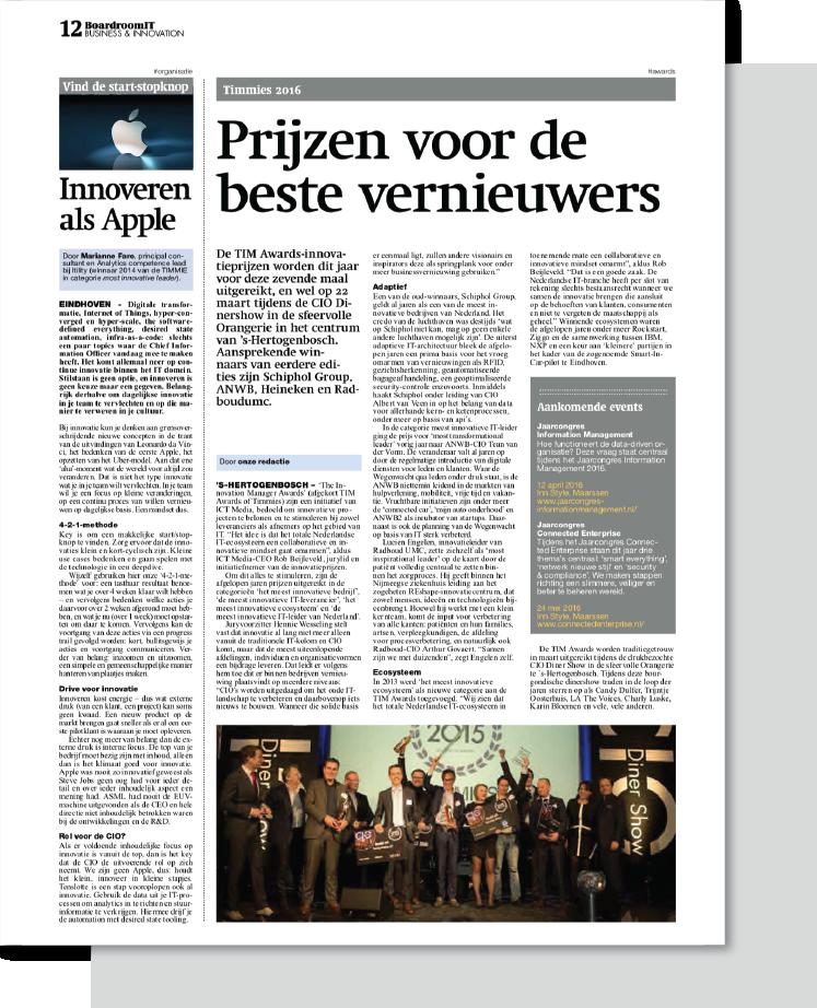 CTA artikelen_Innoveren als apple